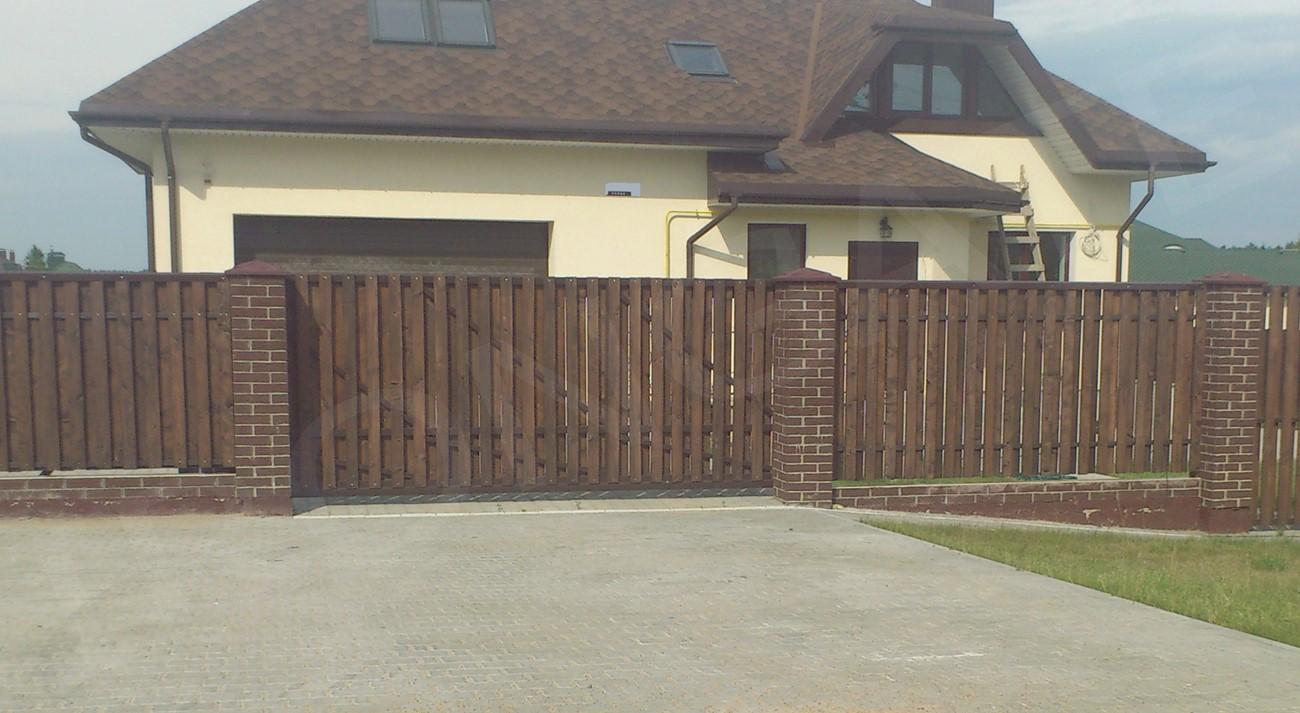 откатные ворота для дома - фото 1