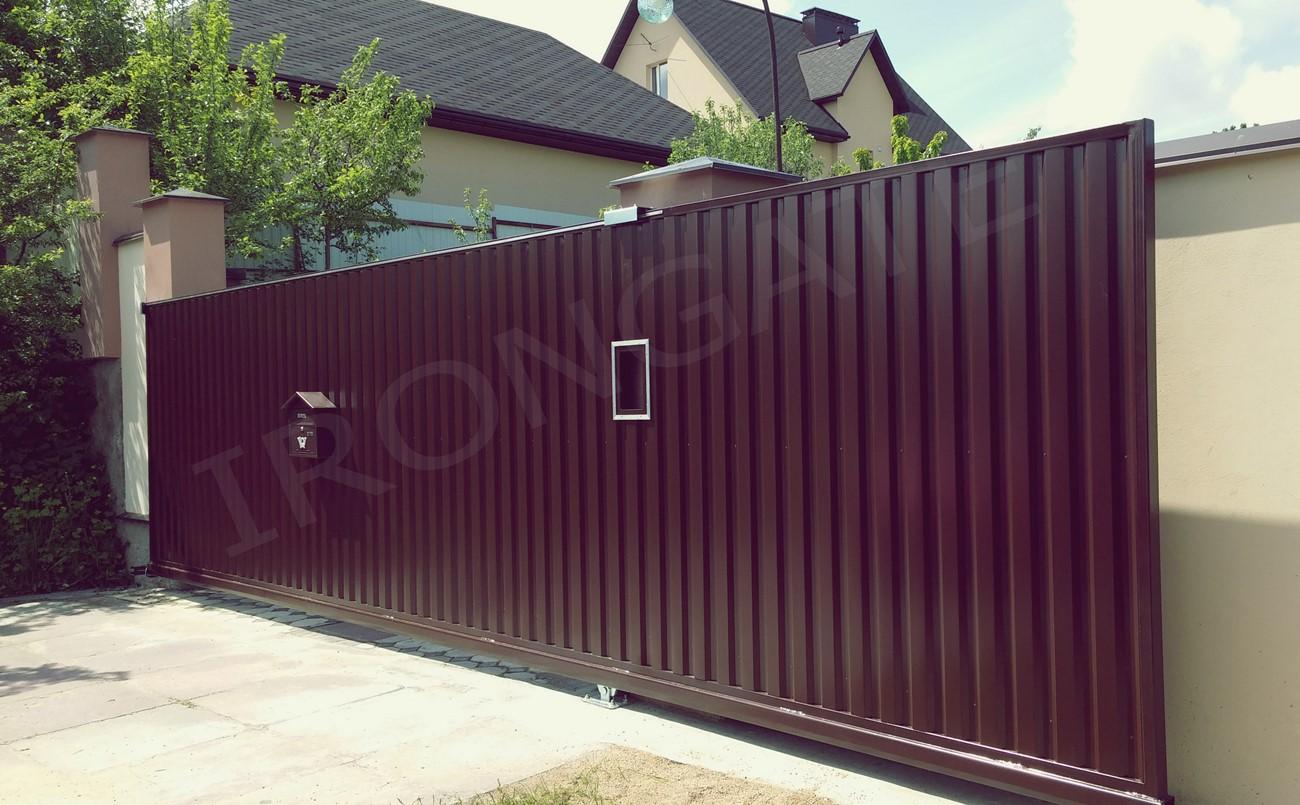 Откатные ворота для въезда - фото 6