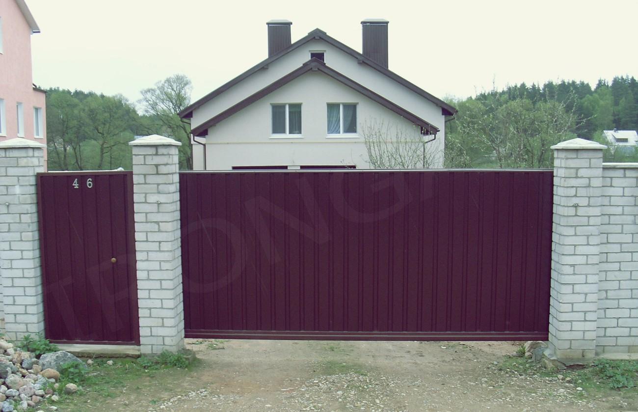 Откатные ворота для дома - фото 6