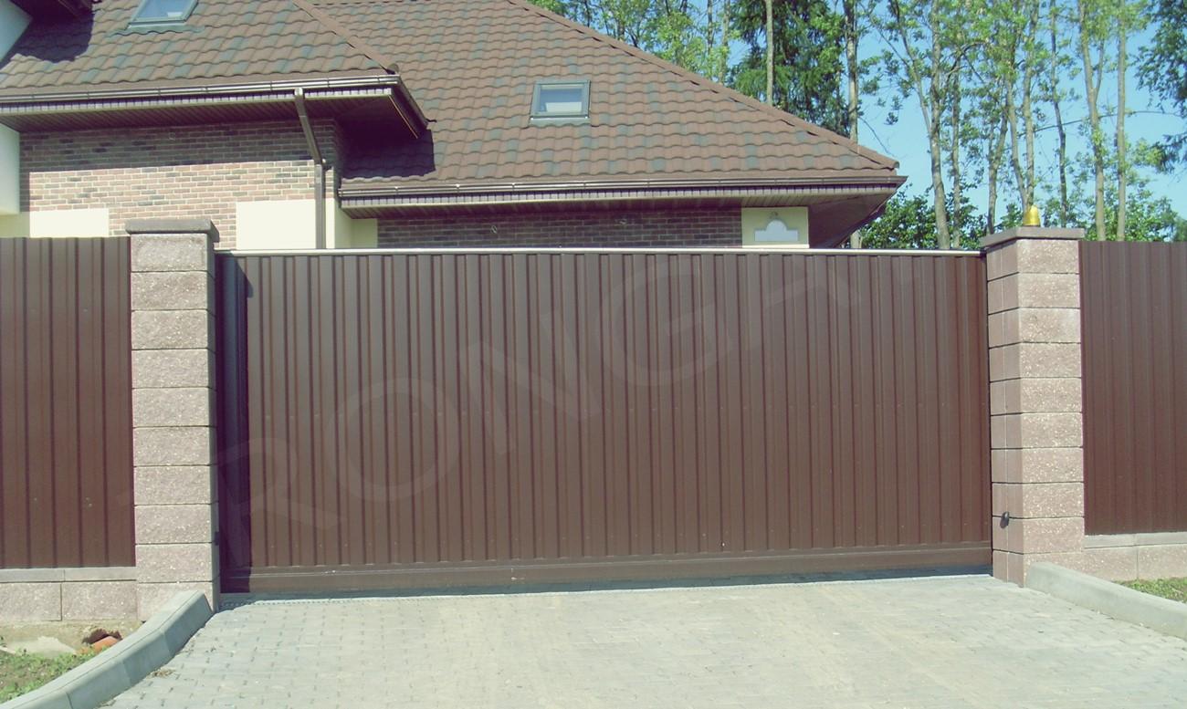 откатные ворота для дома - фото 5