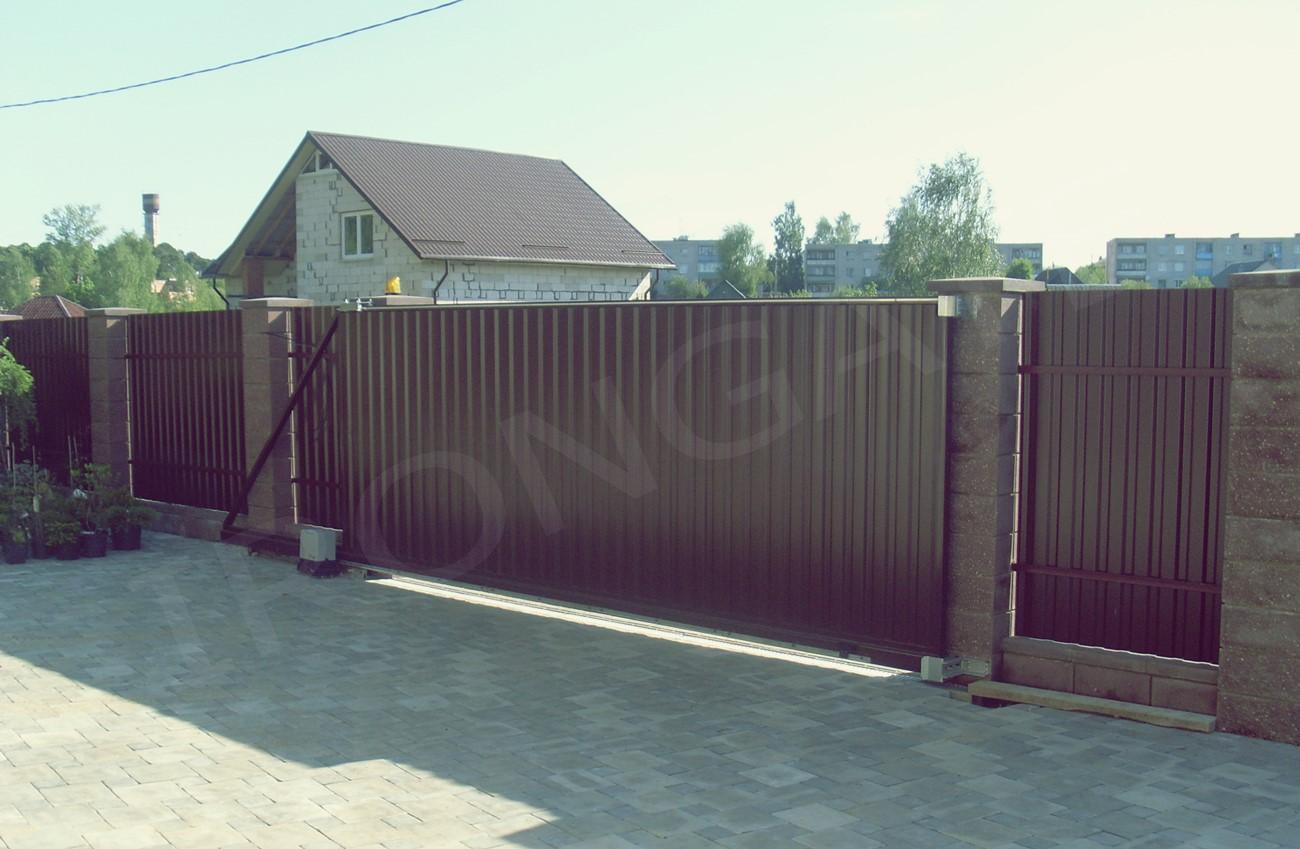 откатные ворота для дома - фото 4