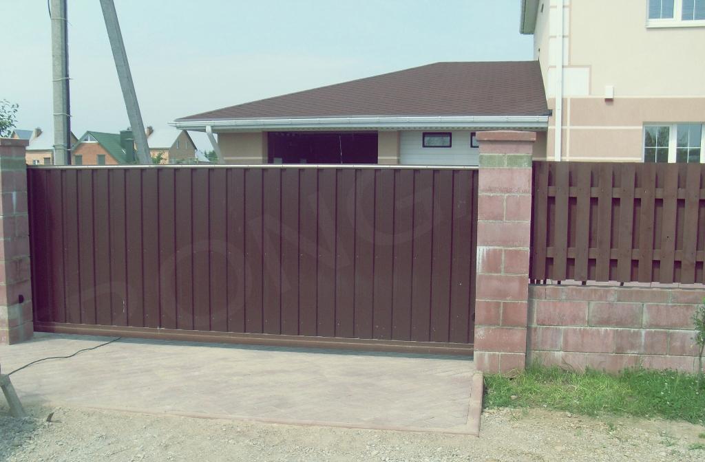 откатные ворота для дома - фото 3