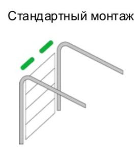 Стандартный монтаж секционных ворот в Минске